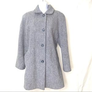 Cabin Creek Wool PeaCoat Button Closure Lined Gray